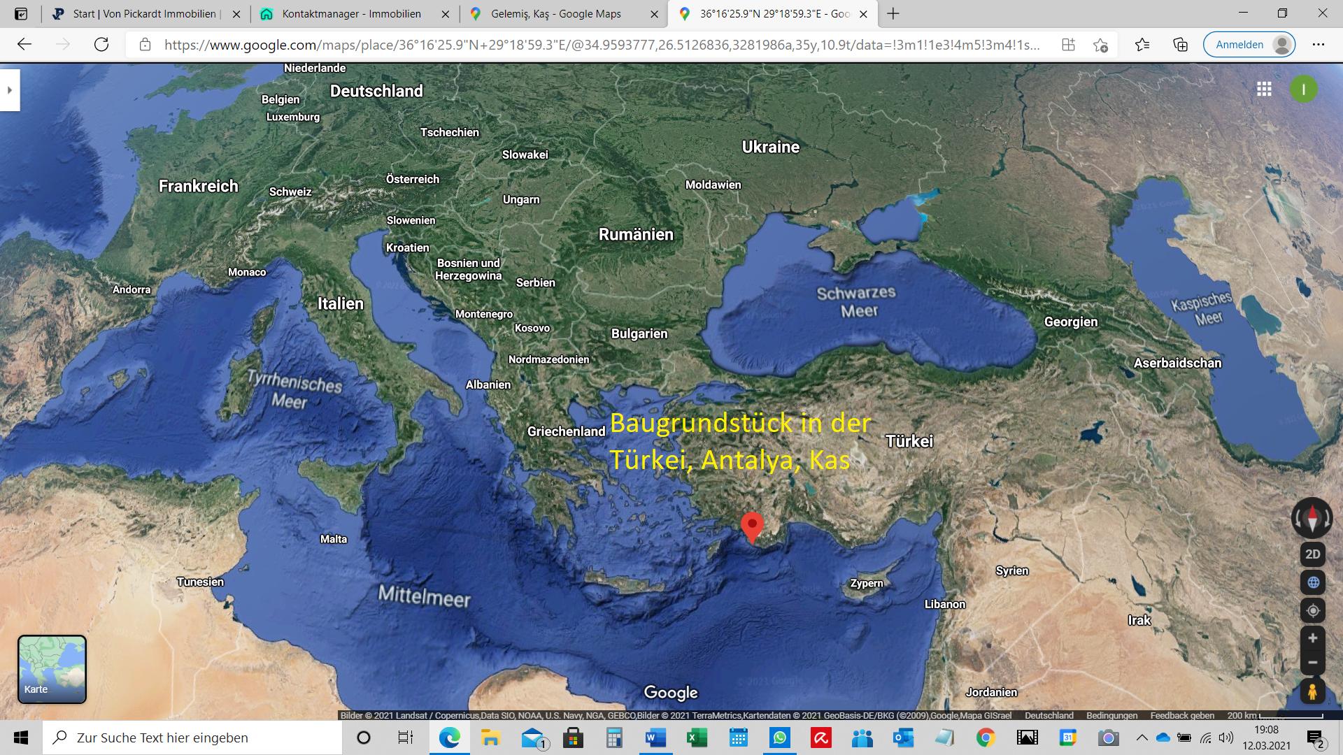 Baugrundstück Antalya, Kas